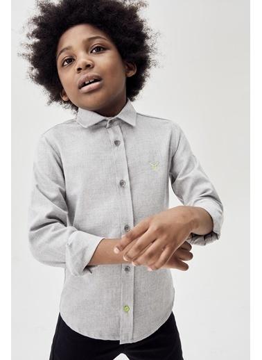 Nebbati Erkek Çocuk Gri Melanj Gömlek 20Fw0Nb3609 Gri